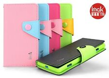 Imak Cross PU Leather Flip Case Cover Wallet For Nokia Lumia 720