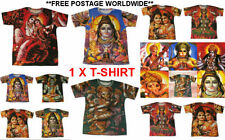 1 x HINDU GODS T SHIRTS,SPAGHETTI indian INDIA god goddess hippy Ganesh LAXMI