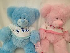 TEDDY BEAR CUDDLY SOFT BABY PAWS FROM POSH PAWS THOMAS BLUE OR PINK