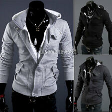 New Mens Casual Zip Up Coat Hoodies Jacket Hoody Outerwear Top Sweater