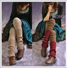 Girl Fashoin Soft Thick mixed color Leg Warmer over Knee High Long Hosiery Stock