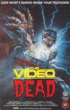 THE VIDEO DEAD Movie Poster Horror 80's RARE VHS Zombies