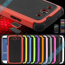 Dual Layer Combo Hybrid Hard Case Cover for Samsung Galaxy S3 III i9300 Pen+Film