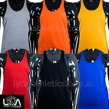 PLAIN Y-Back T-Back Racerback Bodybuilding Stringer Tank Top Muscle Gym Singlet