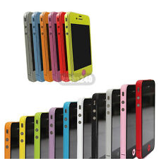 10 Colors Full Body Screen Protector Case Cover Film Skin For Apple iPhone 4S