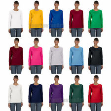 Gildan Heavy Cotton Missy Fit Long Sleeve T Shirt Womens Tee S M L XL 2XL 5400L