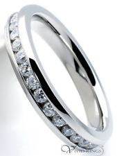 Women's 316L Stainless Steel Clear CZ Eternity Ring 3.5mm Size 4 to 10.5