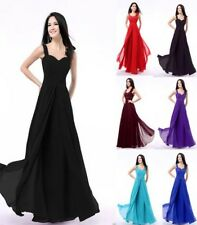Styel Chiffon Sexy Long Formal Prom Dresses Party Bridesmaid Evening Ball Gowns