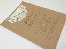 F Vintage 'Paper Lace' Wedding/Evening Invitation Shabby Chic, Tea Party, Garden