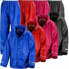 BRAND NEW KIDS WATERPROOF JACKET+TROUSERS SUIT RAINSUIT   BOYS GIRLS 3-12yr