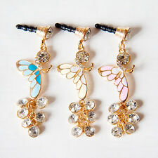 Butterfly Chain Anti Dust Plug for iPhone4 4s Galaxy s3 s4&3.5mm Earphone Jack