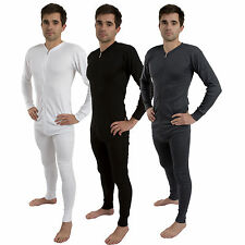 Men All in One Union Winter Warm Ski Thermal Underwear Onsie Boiler Suit Zip Up