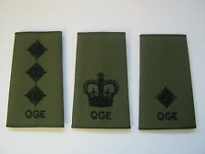 Queens Gurkha Engineers QGE - Rank Slide in Olive with Black Embroidery
