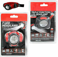 1 OR 7 LED ULTRA BRIGHT HEAD TORCH LIGHT LAMP CAMPING HIKING FISHING CAR
