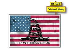Gadsden Old Style American Flag Dont Tread on Me Choose Sticker Decal Gun Rights