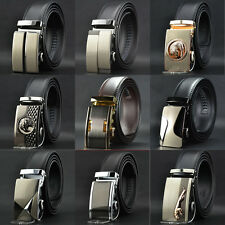 Whole Sale Mens Automatic Buckle Genuine Leather Formal POP Waist Strap Belts