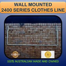 FOLD DOWN CLOTHESLINE WALL MOUNTED Australian made  2400mm X 900mm FREE PEGS