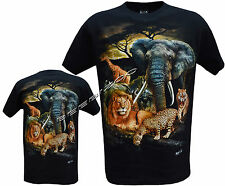 Lion Tiger Elephant Rhino Cute Jungle Animals T Shirt M - XXL By Wild