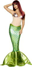 Adult Women Underwater Sea Nymph Beauty Mermaid Costume Halloween Outfit New