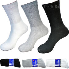 3 Pairs Diabetic Crew Circulatory Socks Health Loose Fit Top Mens Cotton 10-15