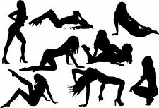 A Collection of Sexy Dancers a Vinyl Wall Art Sticker in 4 Sizes & 24 Colours