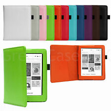 PU LEATHER SMART CASE COVER FOR ALL NEW KOBO AURA 2013 WITH SLEEP WAKE + STYLUS