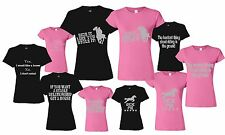 RUDE FUNNY RIDING CLOTHES LADY FIT T-SHIRT SIZES 8-20