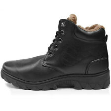 New Trend Snow Winter Working Mens Black Boots Shoes Nova