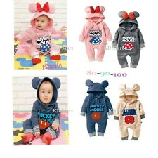 New Baby Boys Girls Micky/Minnie Mouse  Costume Fleece Outfit One piece 6M-24M