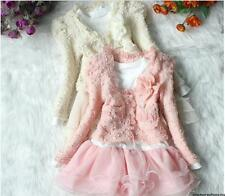 Girls Outfit Jacket Tutu Top Dress Toddler Party Pageant SZ 3-6T Flower clothes