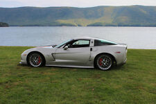 Poster of Chevy Corvette C6 Z06 with ZR1 Wheels Left Side HD Print