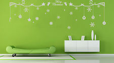 Hand Carving Christmas Decoration Snowflake Vinyl Wall Stickers Wall Decal UK