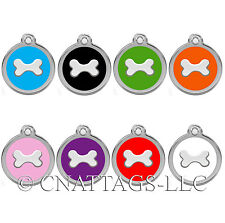 Personalized Engraved Designers Bone Shape Pet Tag dog tag cat tag by CNATTAGS