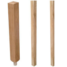 Oak Plain Blank Newel Post Stair Parts Staircase Parts | Full Storey Half Spigot