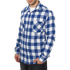 Urban Classics - CHECKED FLANELL Hemd royal / weiss