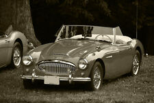Poster of Austin Healey 3000 MKII HD B&W Print Free Shipping