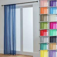 Lucy Slot Top Voile Curtain Panel - White Cream All Colours - Net Voile Curtains