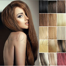 80G100G120G Clip in Remy Extensions 100% Real Human Hair Any Colours All Lengths