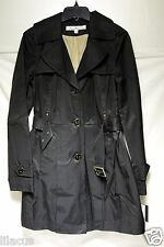 New Kenneth Cole Women's Cotton-Poly Belted Trench Color And Size Available