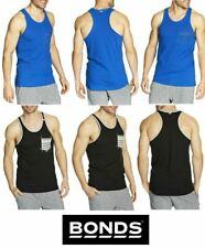 NEW MENS BONDS ACTIVE MESH RACER SINGLET TOP SPORTS GYM BASKETBALL SINGLETS TEE