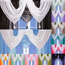 Tassled Voile Curtain Swags All Colours - Pelmet Valance Net Curtains