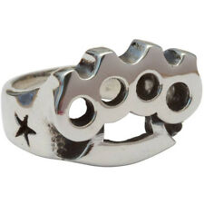 Femme Metale .925 Sterling Silver Big Knux Ring Brass Knuckles Knuckle Duster