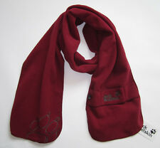 New *Jack Wolfskin* Polartec Fleece Winter Scarf Red Color