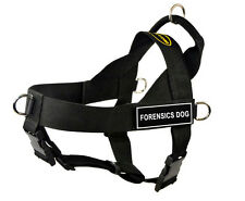 DT Universal No Pull Working Dog Harness with Velcro Patch FORENSICS DOG