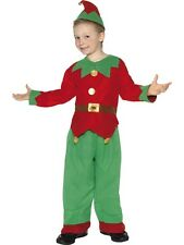 Childrens Red And Green Elf Fancy Dress Christmas