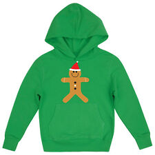 CHRISTMAS GINGERBREAD MAN FESTIVE GIRLS FUN NOVELTY CHILDRENS XMAS HOODIE