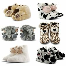 NEW LADIES NOVELTY ANIMAL COMFY COSY GIFT MULE SOFT FARM JUNGLE SLIPPERS UK SIZE