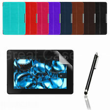 THIN SMART PU LEATHER CASE COVER FOR AMAZON KINDLE FIRE HDX 7 + PEN + GUARD