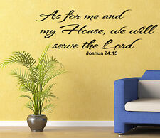 Religious Wall Decal AS FOR ME AND MY HOUSE Bible Verse Wall Decal Wall Sticker