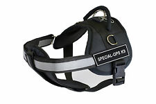 DT Works Chest Support Dog Harness with Velcro Patches SPECIAL-OPS K9